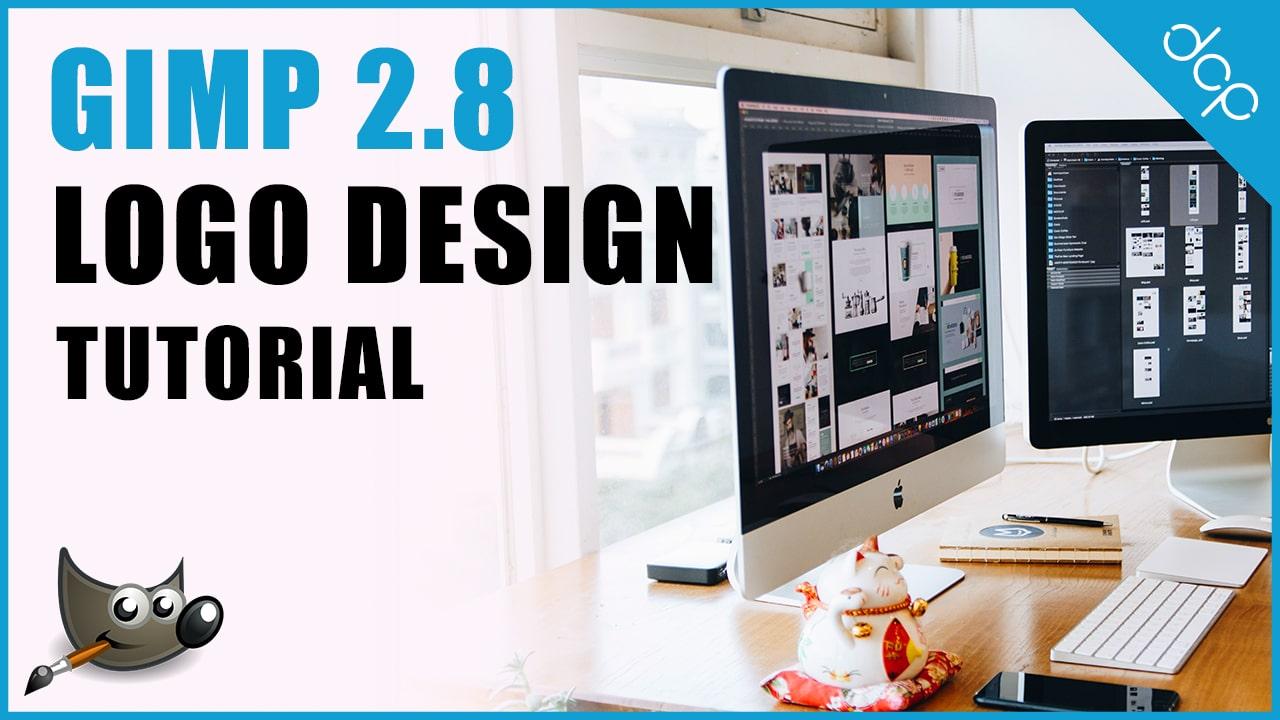 How to design a business Logo using GIMP 2.8 Video Tutorial