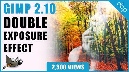 GIMP 2.10 Double Exposure Tutorial - [ Gimp Layer Mask Tutorial ]