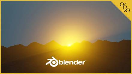 Mountains and Sunrise Blender 2.8 Tutorial - Part 2
