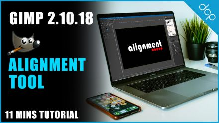 Alignment Tool GIMP 2.10 Tutorial