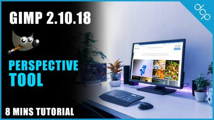 Perspective Tool GIMP 2.10 Tutorial