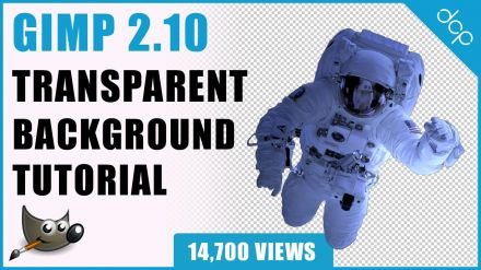 GIMP Tutorial - Transparent Background Tutorial | Fuzzy Select Tool | Magic Wand Tool