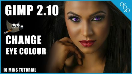 How to change eye colour using GIMP 2.10