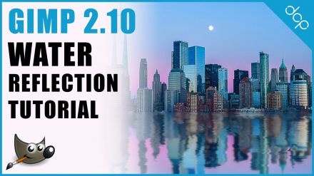 How to add water reflection to an image using GIMP 2.10