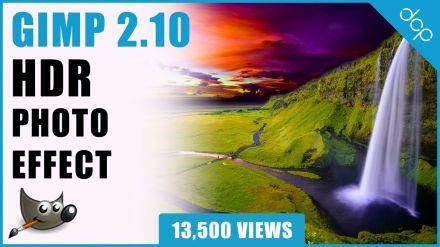 Create HDR Photo Effect - GIMP 2.10 Tutorial - [ High Dynamic Range Photo Effect Tutorial ]