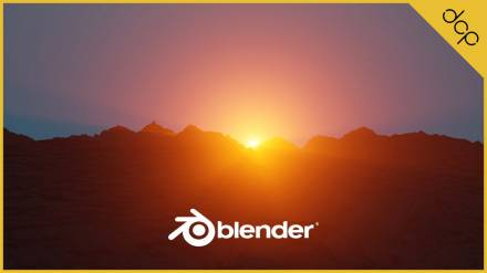 Mountains and Sunrise Blender 2.8 Tutorial - Part 1