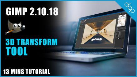 3D Transform Tool GIMP 2.10 Tutorial