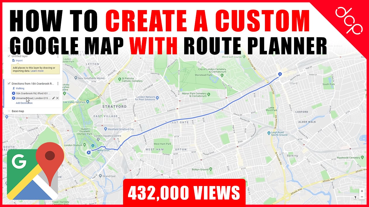 How to create a custom Google Map with Route Planner and Location Markers