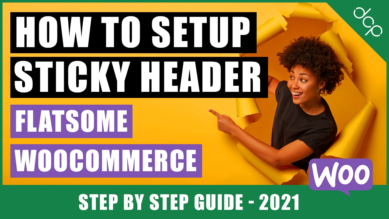 How to enable sticky header in WooCommerce flatsome theme