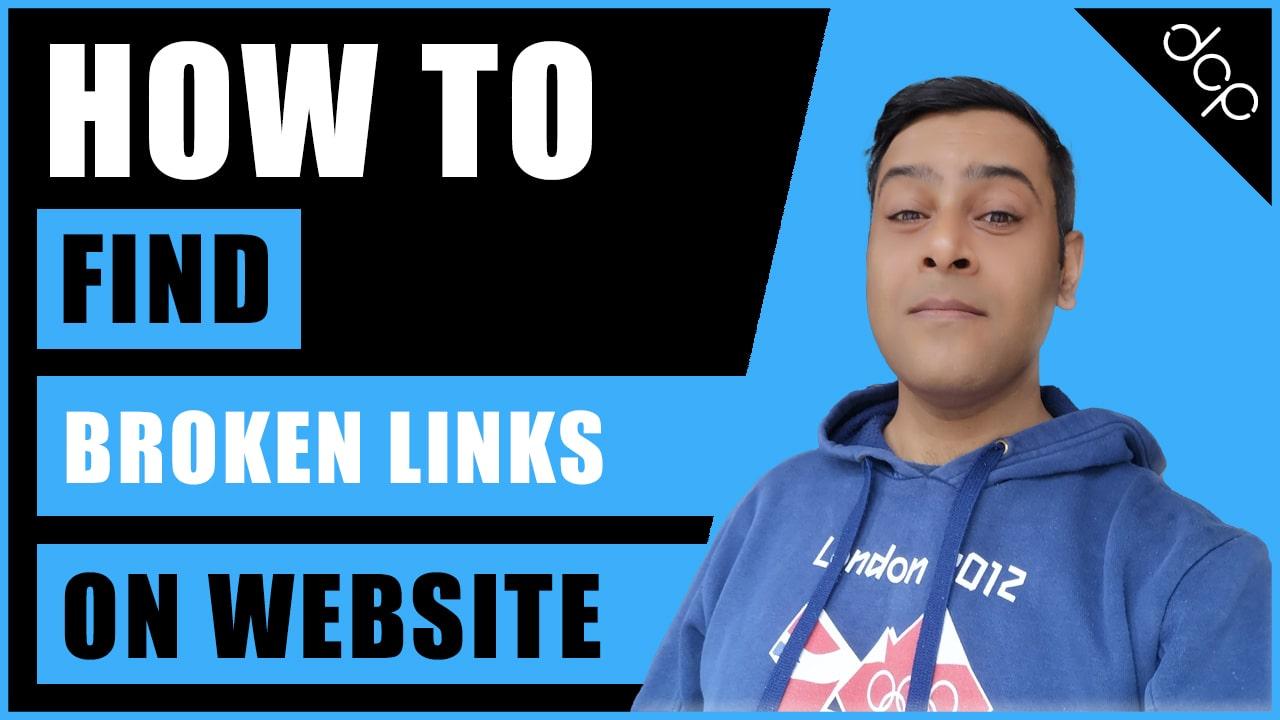 How to find broken links on your website   Website SEO tips