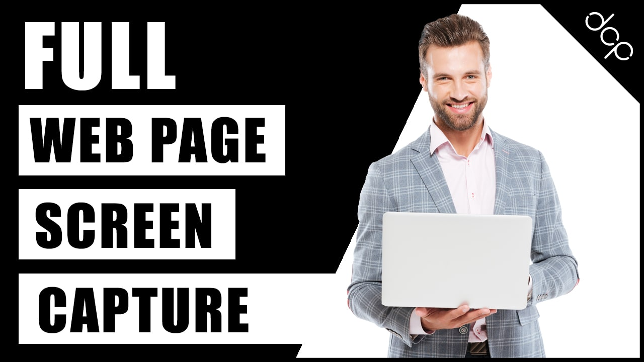 How to make a full web page screen capture using Google Chrome