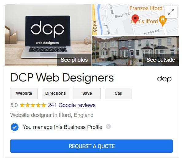 DCP Web Designers Google My Business