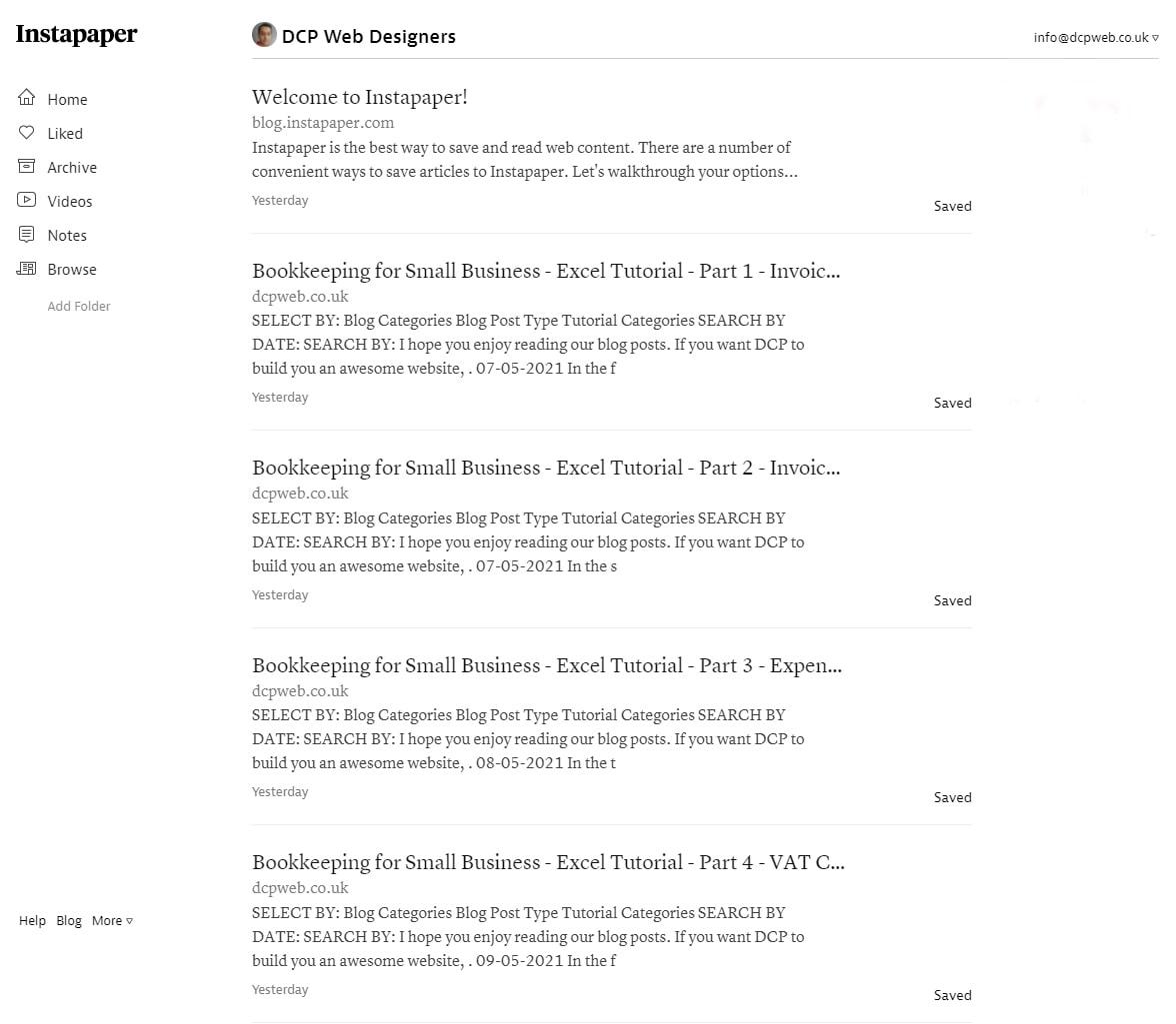 DCP Web Designers InstaPaper Profile