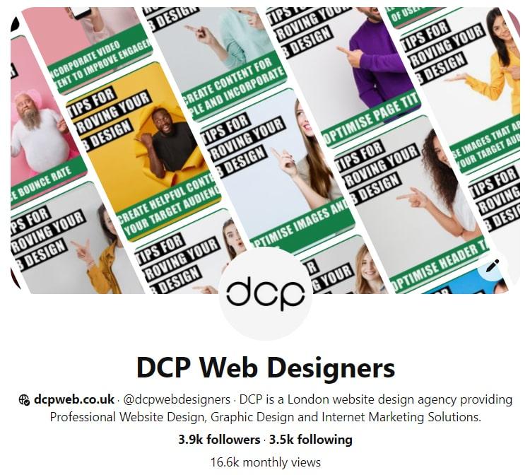 DCP Web Designers Pinterest Profile
