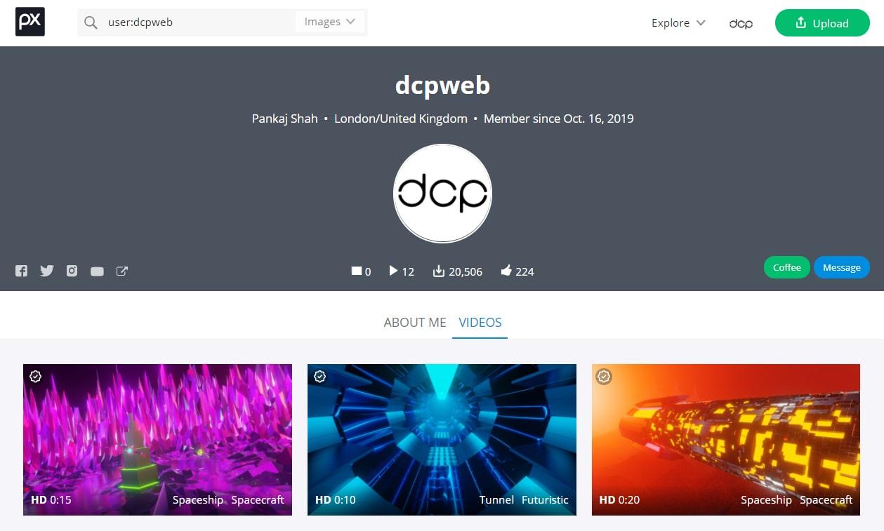 DCP Web Designers PixaBay Profile