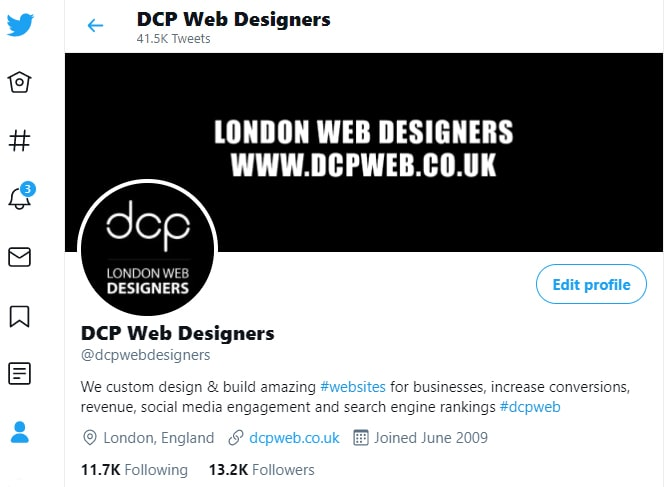 DCP Web Designers Twitter Profile