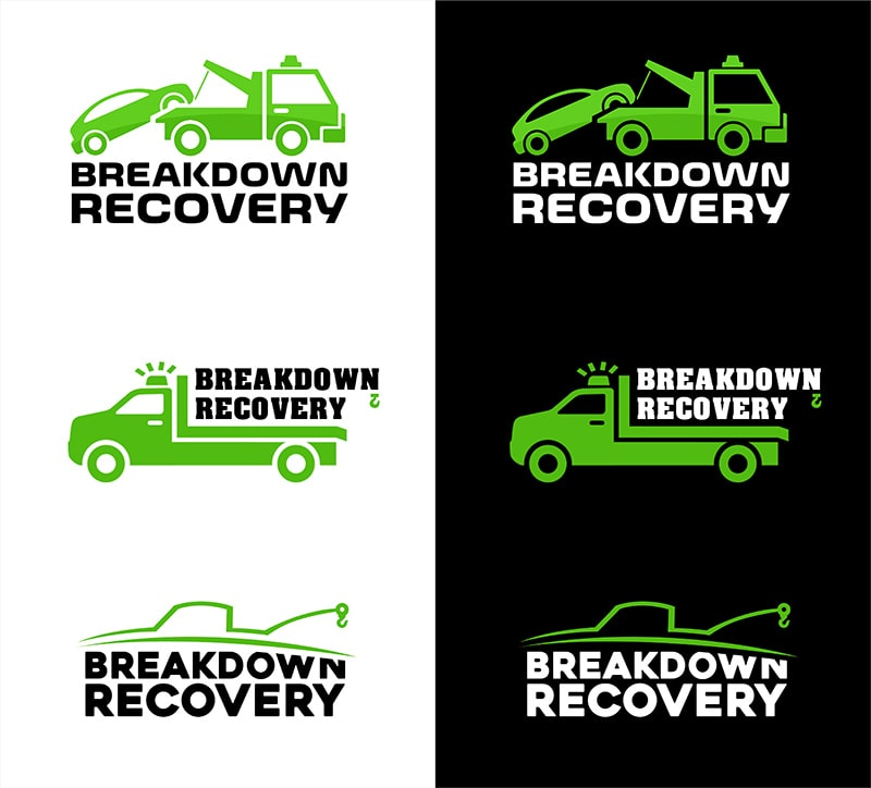 breakdown recovery example logo design concepts