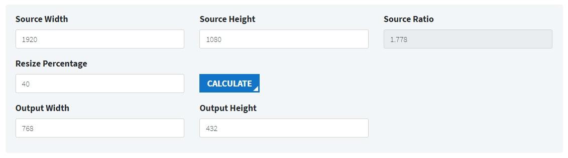 DCP aspect ratio calculator