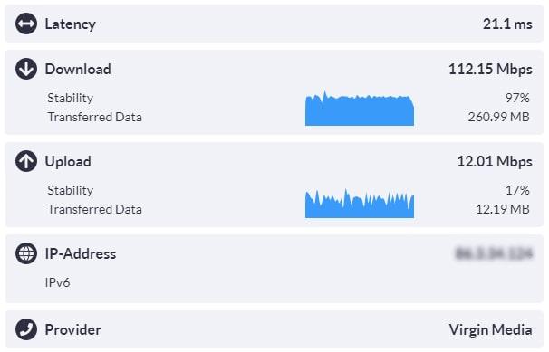 Speedcheck internet speed test