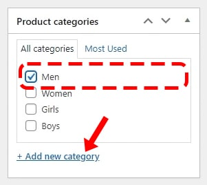 Select a product category