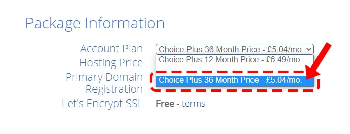 Bluehost 36 month shared hosting plan