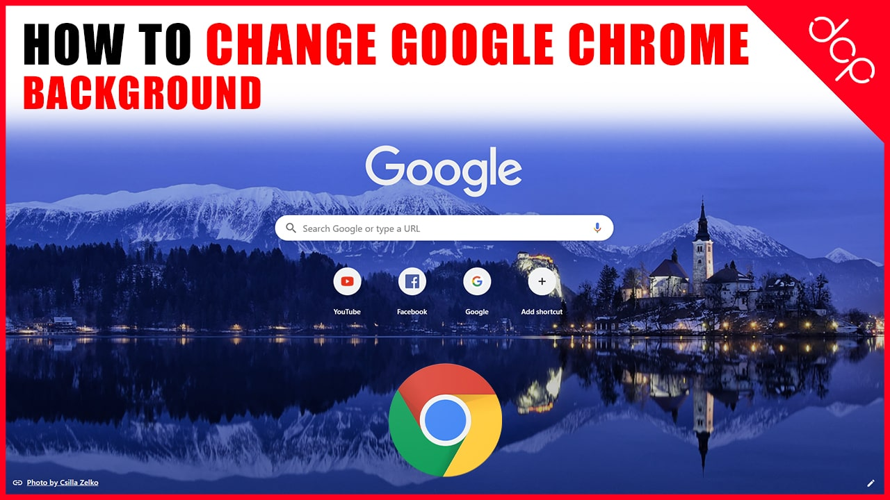 How to change Google chrome background