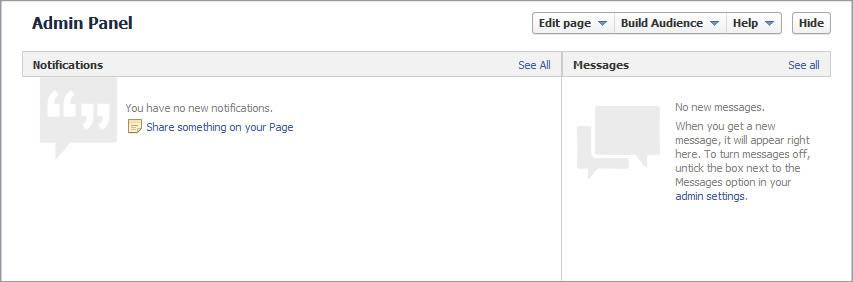 facebook hide admin panel