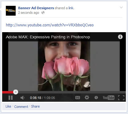 facebook youtube url play video