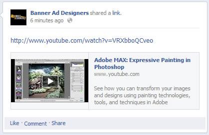 facebook youtube url post