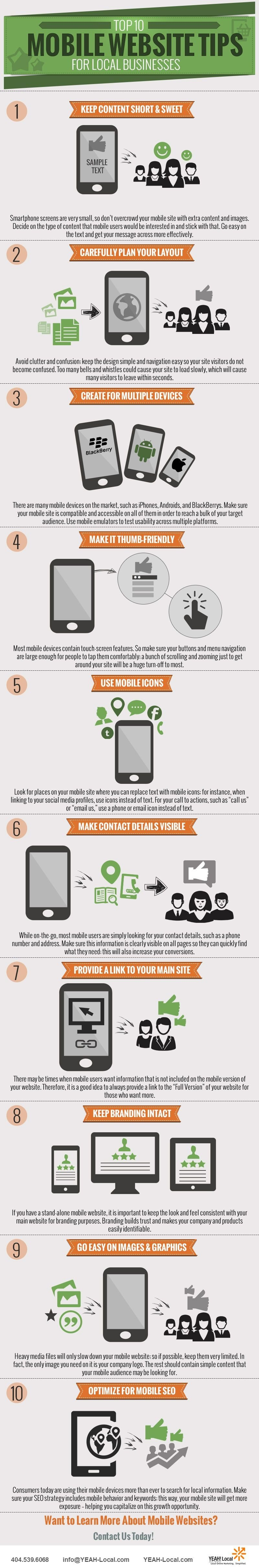 Top 10 tips for creating a mobile friendly website design solution for your business