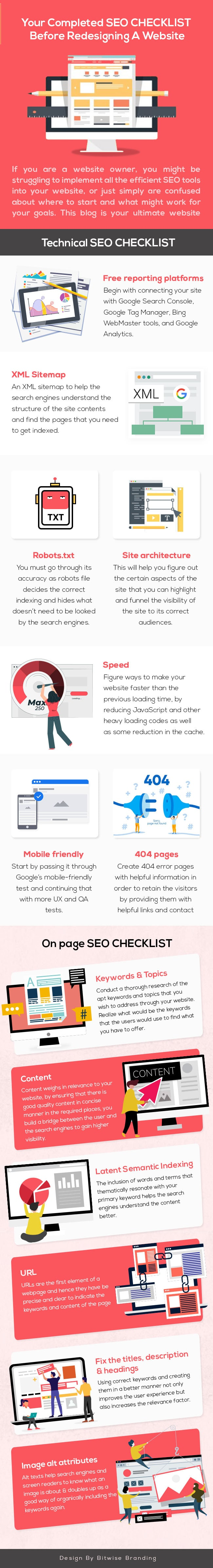 Beginners SEO Tips: Checklist for 13 Step to Improve Your Website SEO - Infographic