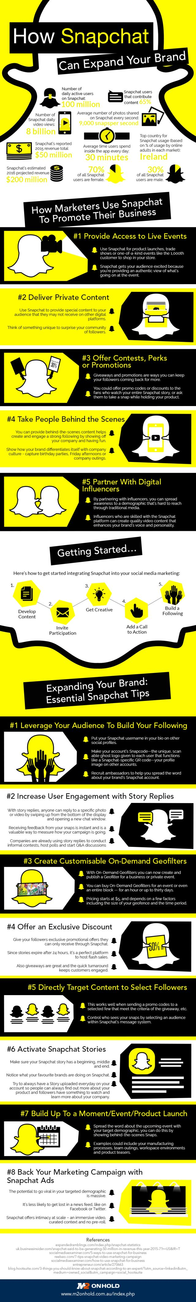13 tips to promote your business using Snapchat