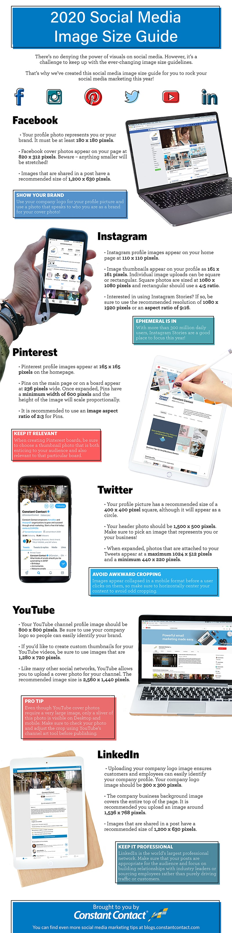 Social Media Image Size Cheat Sheet for 2020