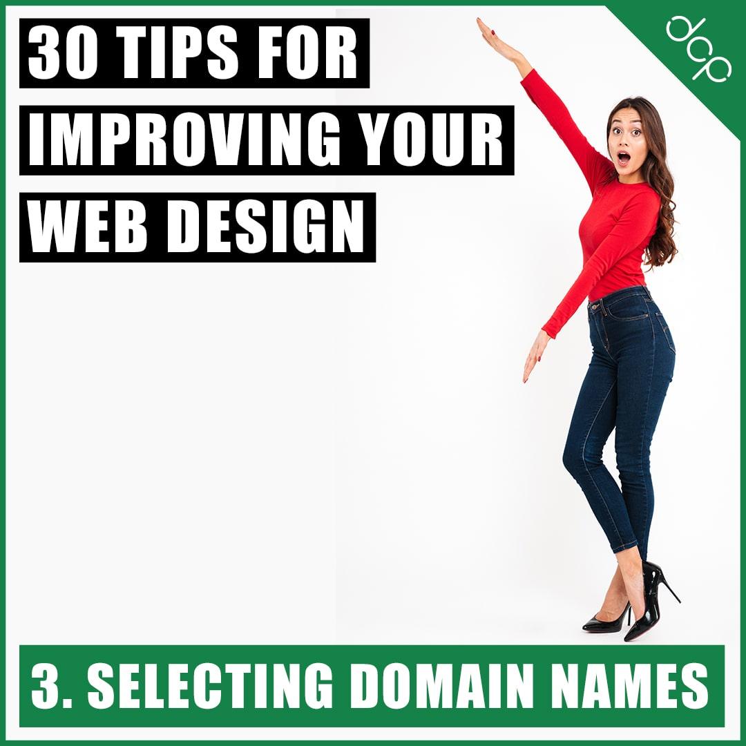 3. Selecting domain names