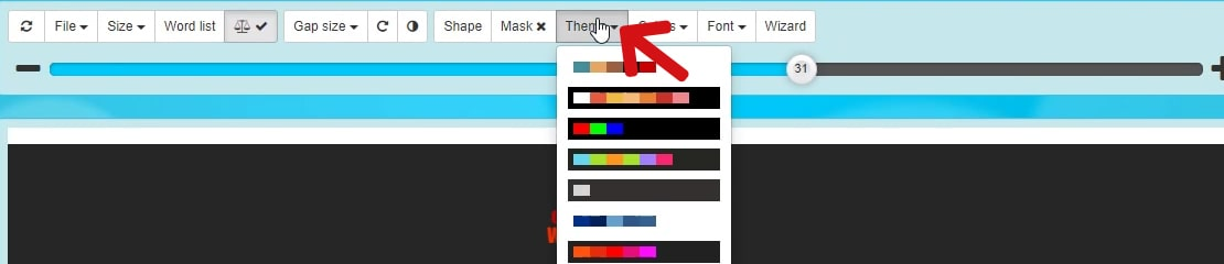 Select a pre-defined colour palette