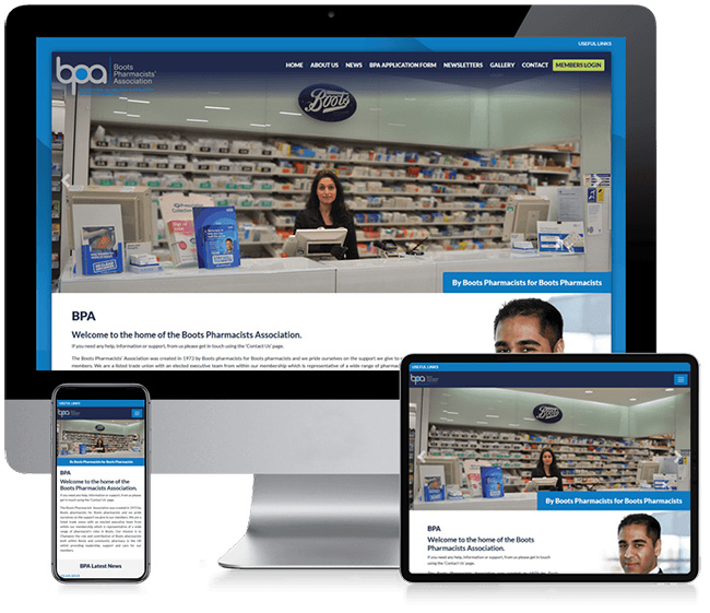 Boots Pharmacy Association Corporate Web Design