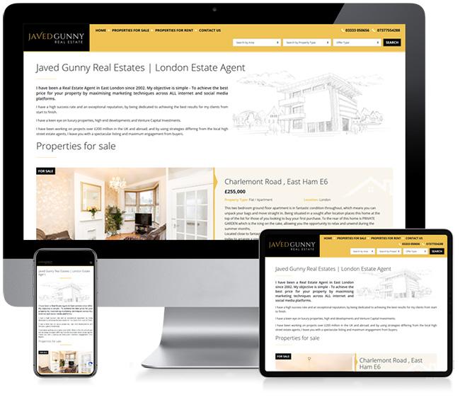 Javed Gunny Real Estate Business Website Design