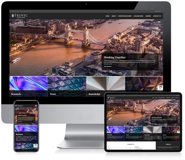 Trovec Partners Business Web Design