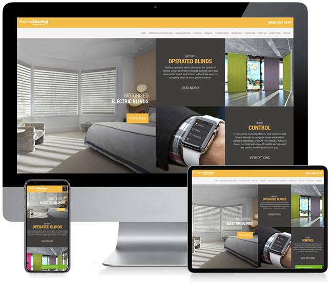 Window Shadings Business Website Design