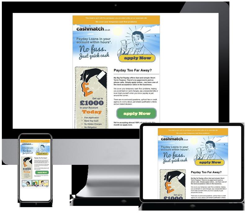 Cash Match - Email Newsletter Design