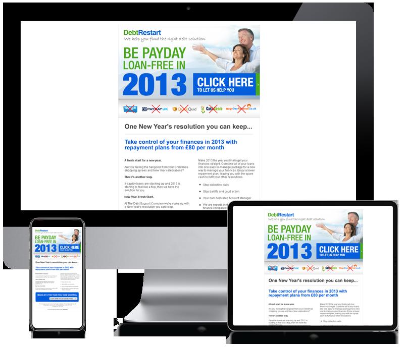Debt Restart - Responsive Email Newsletter Design