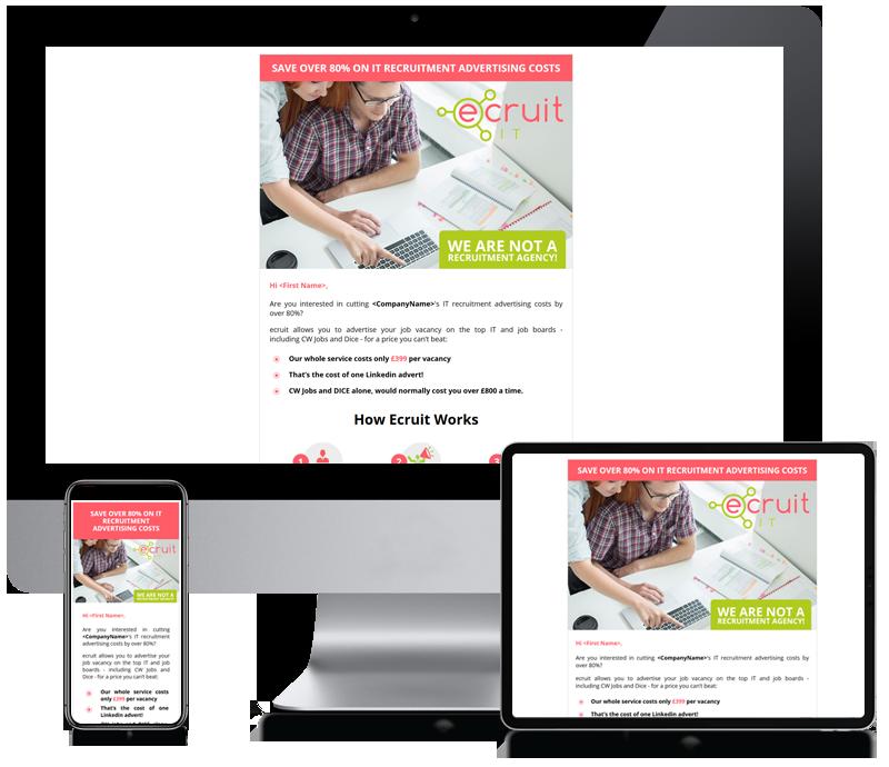 ecruit - Recruitment Agency Newsletter Design