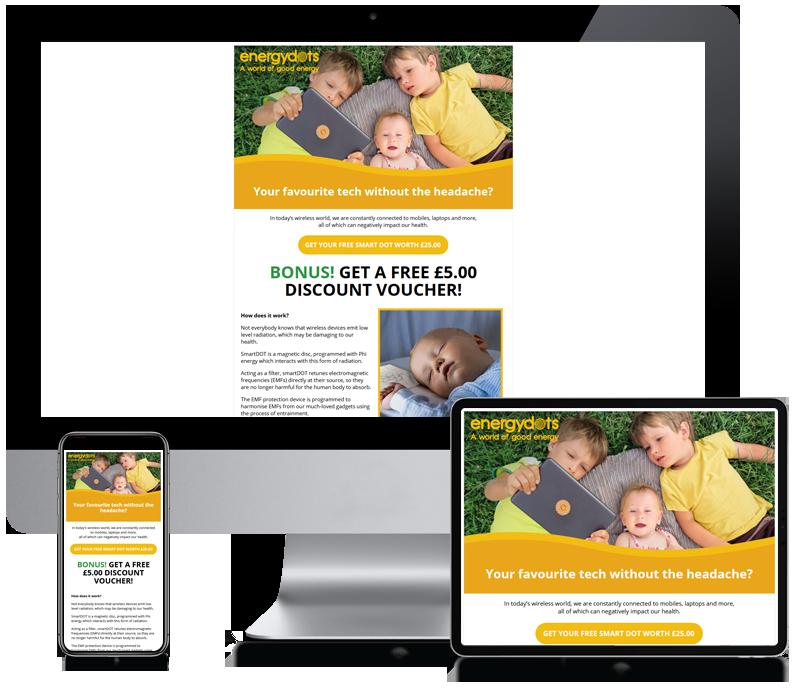 Energy Dots Custom Newsletter Design
