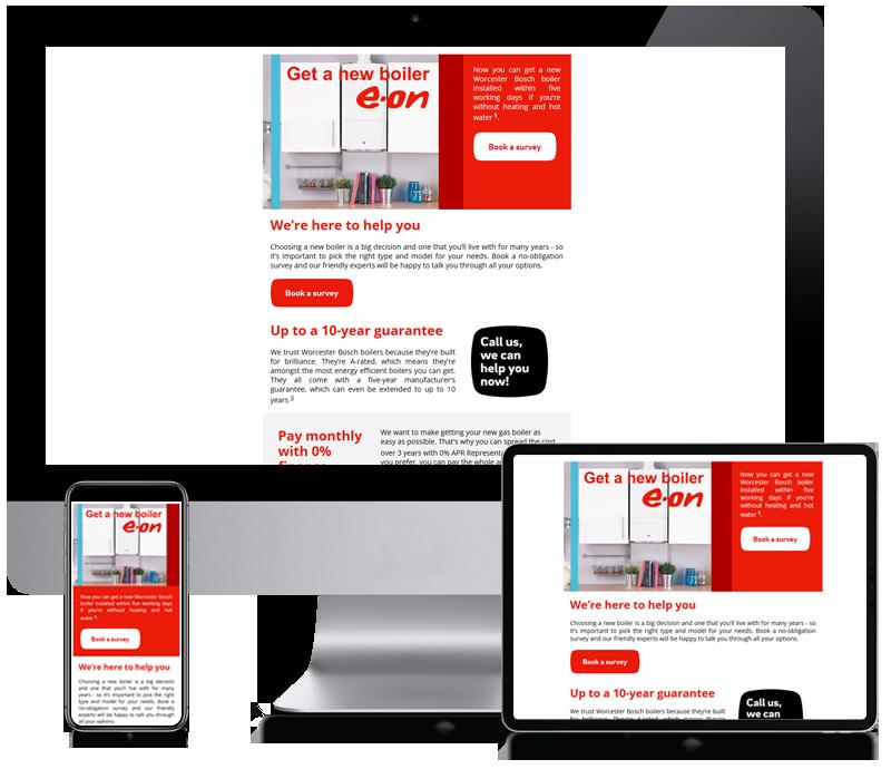 E.ON - Boiler Newsletter Design