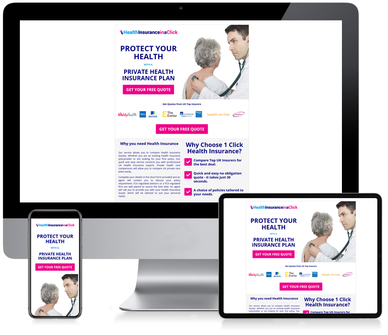 Health Insurance in a Click - Newsletter Design
