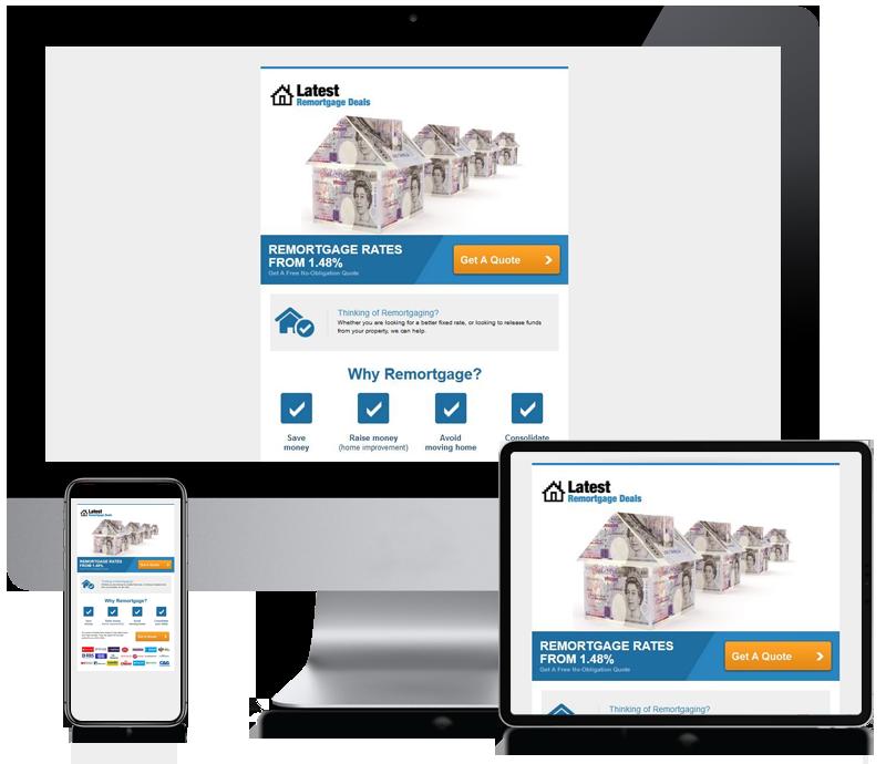 Latest Remortgage Deals - Internet Marketing Newsletter Design