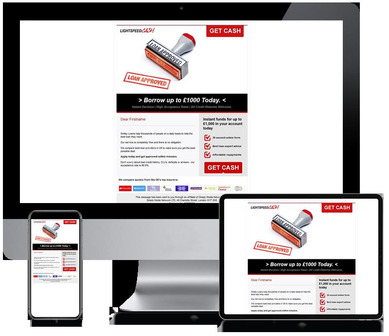 Light Speed Cash - Newsletter Design