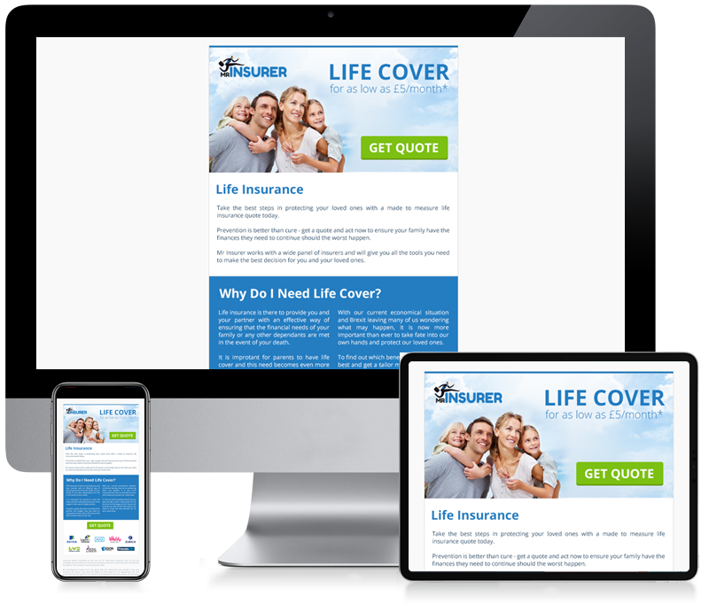 Mr Insurer - Lead Generation Newsletter Design