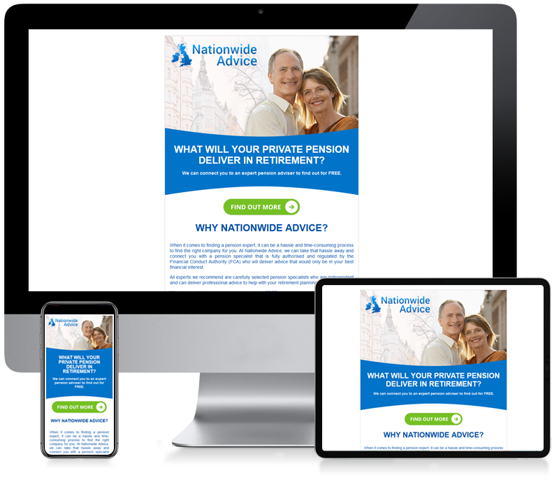 Nationwide Advice - Private Pension Email Design