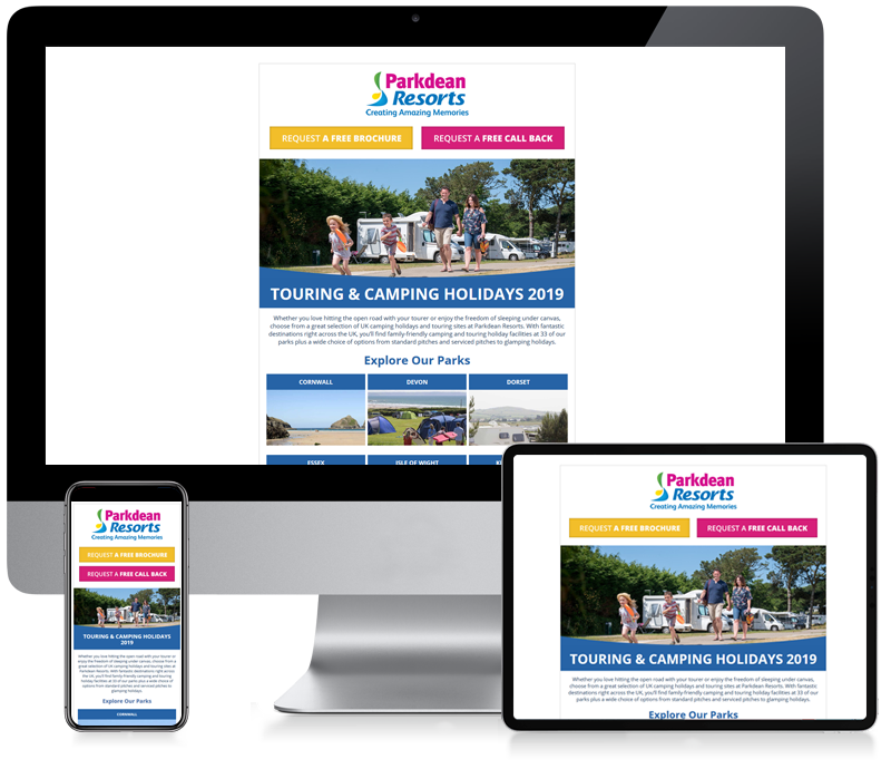 Parkdean Resorts - Newsletter Design